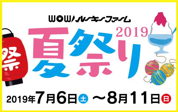 WOWルーキーファーム 夏祭り2019